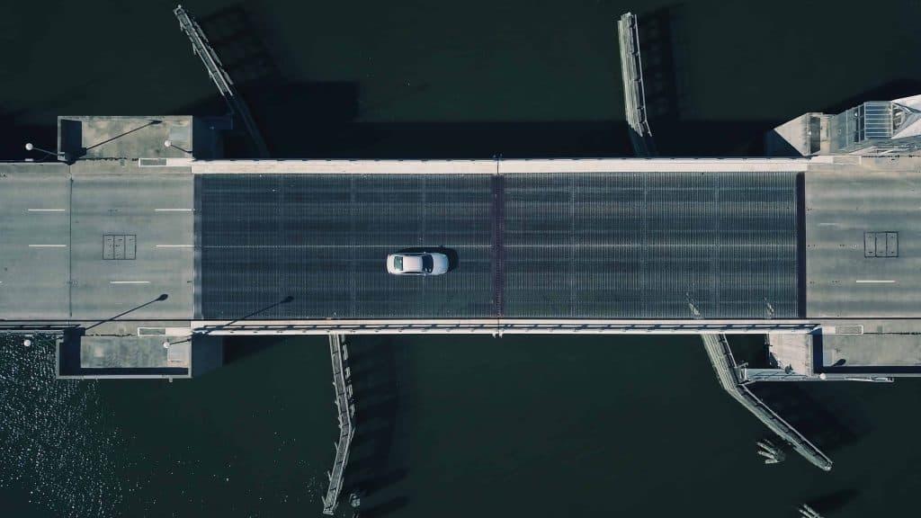 Overhead View of Bridge in Charleston, SC