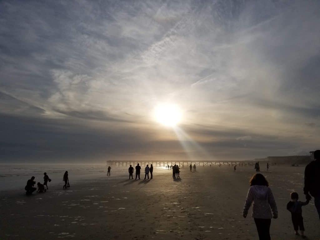 Isle of Palms Beach at Sunset in Winter Charleston SC