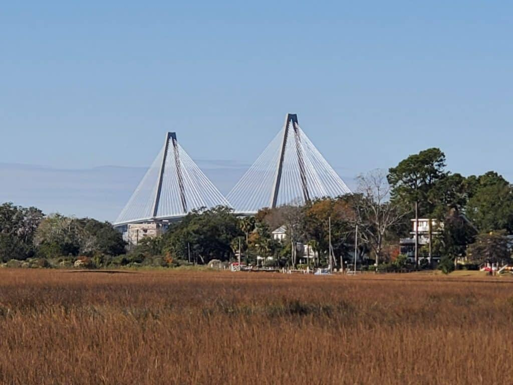 Cooper River Bridge View from Shem Creek