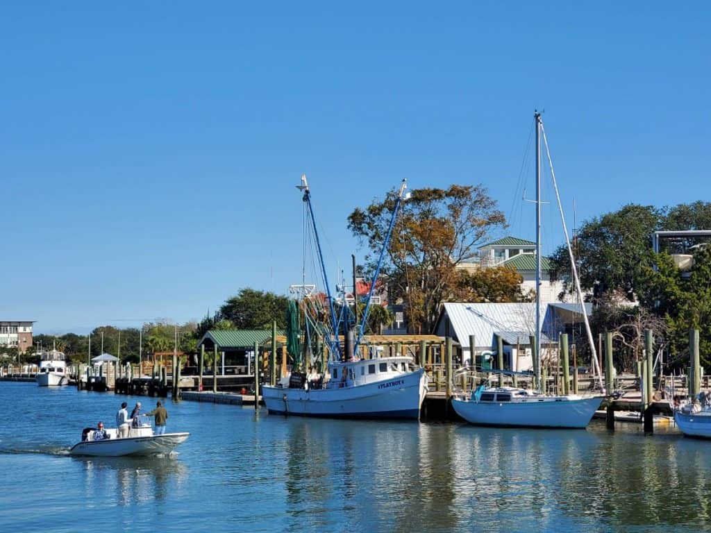 Shem Creek Boats